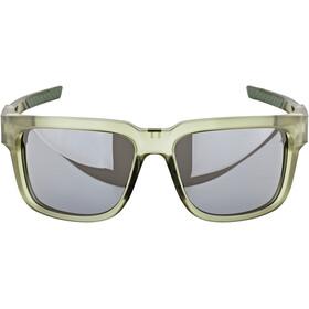 100% Type S Lunettes, matte translucent olive slate/black mirror